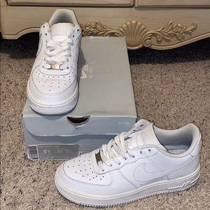 Grade school Nike Air Force 1's